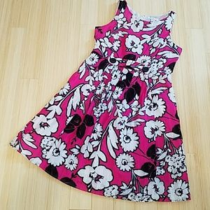 Amanda Lane Dresses & Skirts - Pink, Black, & White Floral Dress Size 14