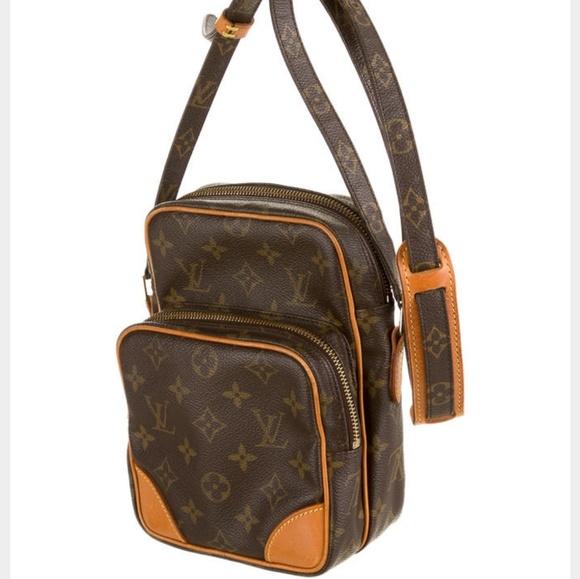 659961c38f40 Auth Louis Vuitton Amazon Monogram Crossbody Bag. M 5912fc6d291a35da9916d414