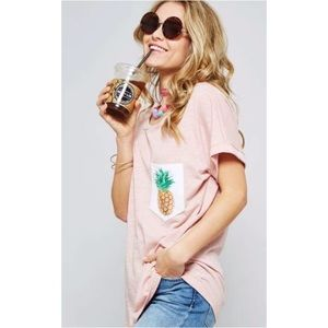 Tops - 🍍 🍍 TWO LEFT! Pink Pineapple Tee 🍍 🍍