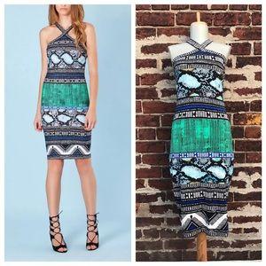Hale Bob Dresses & Skirts - Hale Bob M Snake Printed Jersey Bodycon Pia Dress