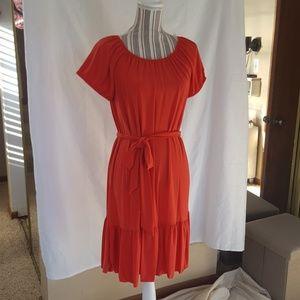 MSK Dresses & Skirts - MSK Orange Belted Dress NWT