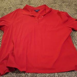 Karen Scott Tops - Karen Scott red polo shirt size 3x