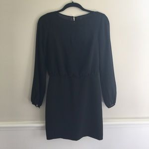 Black Banana Republic sheer sleeve dress