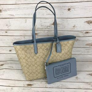 Coach Handbags - Coach Reversible PVC Signature Tote & Travel Bag