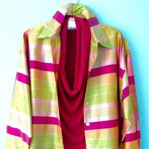 NEIMAN MARCUS Silk Jacket/Blouse