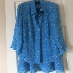 Cynthia Howie Dresses & Skirts - Blue skirt 2-piece dress