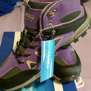 Air Balance  Shoes - Purple & Black Hiking style boot