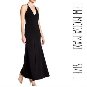 FEW MODA Dresses & Skirts - V-Neck Open Back Maxi Dress, Few Moda LARGE NWT