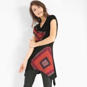 Desigual Tops - Desigual Sonia Diamond Print Tunic Top