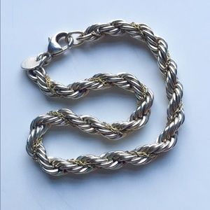Tiffany & Co. Jewelry - Tiffany & Co. SS/18K Rope Bracelet