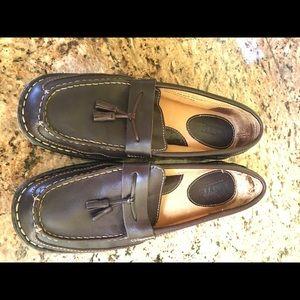 Born Shoes - Born Ladies Sz 9 Tassel Loafers Shoes Dark Brown