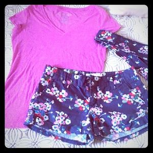 🔴🆕Aeropostale blue floral shorts