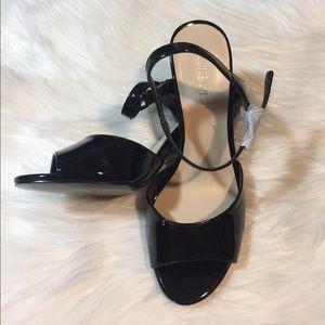 Nine West Shoes - Nine West Black Open Toe Sling Back Heels