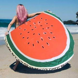 Hannah Beury Accessories - Watermelon Beach Wrap with Tassel edges
