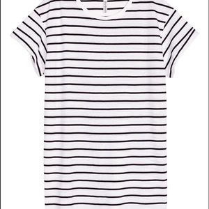 H&M white and black striped t-shirt dress