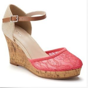 Apt. 9 Shoes - New Lace Platform Wedge Sandals Sizes 8.5 or 7.5