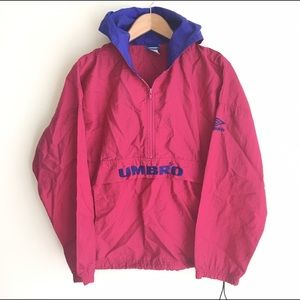 Vintage Umbro Spell Out Windbreaker Pink Purple