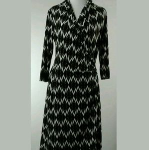 Karen Kane Dress Sz L Stretch Side Pull Long Slv