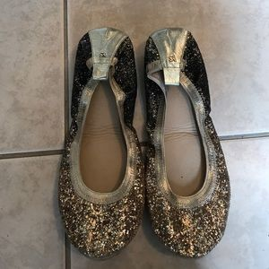 yosi samra glitter ballet flat size 9!