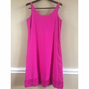 Eileen Fisher Dresses & Skirts - NWT Eileen Fisher 100% Irish Fuschia Linen Dress S