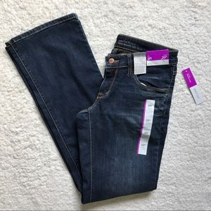 Mossimo Low Rise Bootcut Dark Jeans