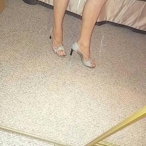 Newport News Shoes - 🎁 SALE Cute Gray Heels By Newport News 8 1/2