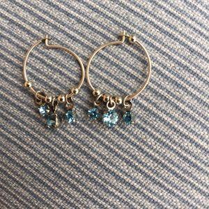 Jewelry - Light blue hoop earrings