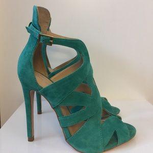 Zara suede heeled sandals