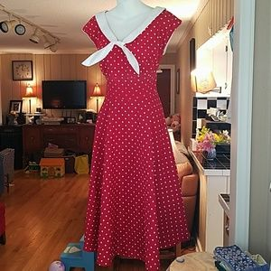 Stop Staring Dresses & Skirts - Stop Staring Red and White polkadot dress