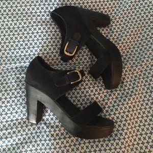 Rachel Comey Shoes - Rachel Comey suede black clog sandals size 7.5