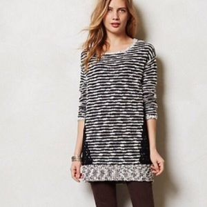 Anthropologie Stacatto Stripe Tunic by Moth