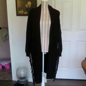 European Culture Jackets & Blazers - European Culture  Forever Italy Fringed Shawl Coat