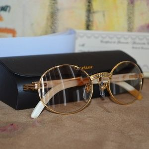 Cartier Other - Vintage Cartier white Buffalo Sunglasses