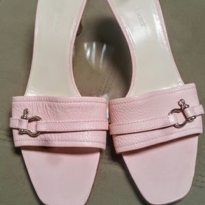 Burberry Shoes - Burberry Pink Leather Slides