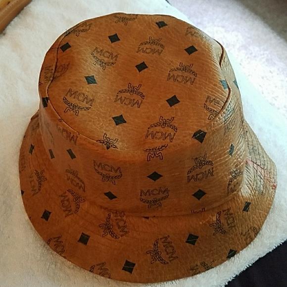 a78b7ce6c5394 closeout mcm monogrammed nylon cap 619ed b92d2  sweden authentic mcm bucket  hat c3e1b e8746
