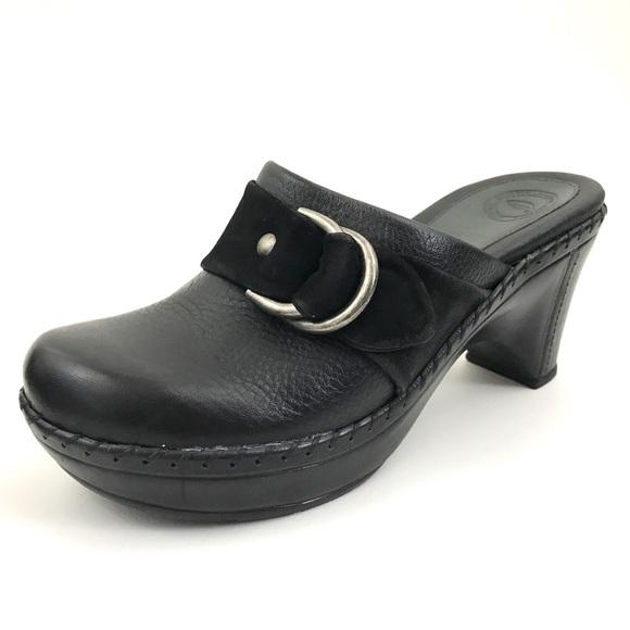 Leather Clogs Slip On Mule Shoes   Poshmark