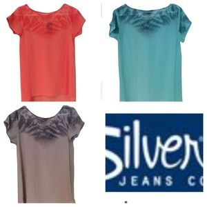 Silver Jeans Co. Sheer Cover up Top Blouse