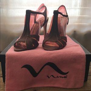 Nina Kalei-YS brown satin heels