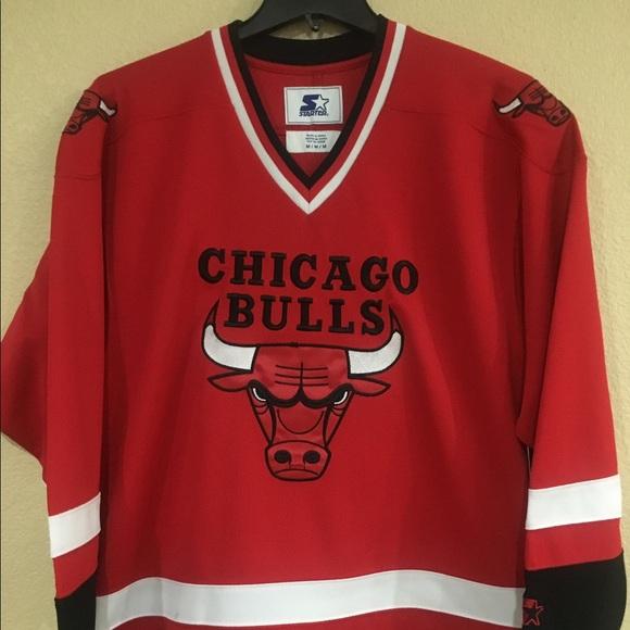 a7ecd8e2d79 Chicago Bulls Men s Hockey Jersey by Starter - NBA