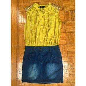 D&G Dresses & Skirts - D&G Dolce Gabbana vintage denim silk sequin dress