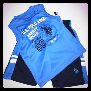 U.S. Polo Assn. Other - Boys Polo Shorts Set
