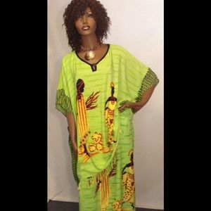 Two Piece African Scene Skirt set