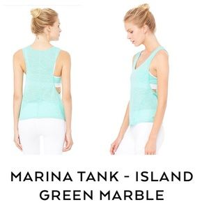 ALO Yoga Tops - NEW!  ALO Yoga Marina tank in Island green marble