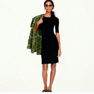 J. Crew 6P Black Wool Dress