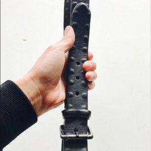 John Varvatos Other - Black leather John Varvatos men's belt size L