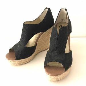 Seychelles Shoes - Seychelles Black espadrille wedge'Memories of You'