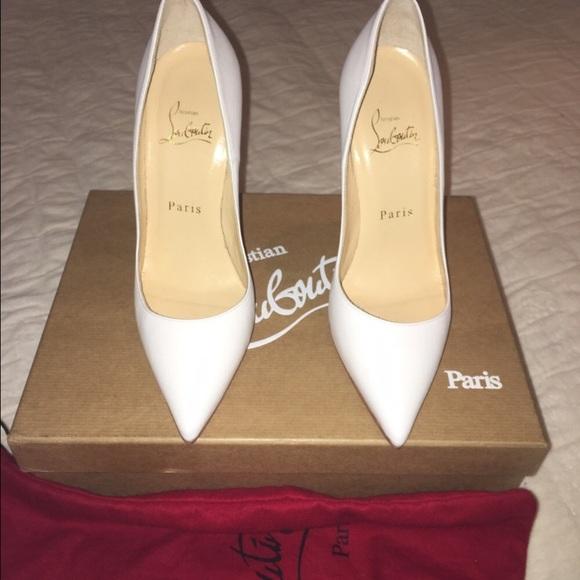 sports shoes e7910 b7c33 New Christian Louboutin White So Kate 120m Sz 36/6