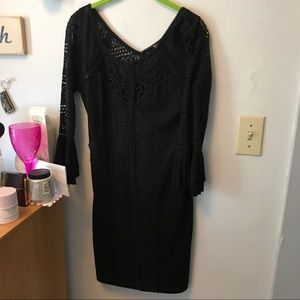 Free People Small Black Crochet Dress