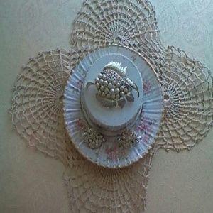Jewelry - CORO BEAD BROOCH AND EARRINGS