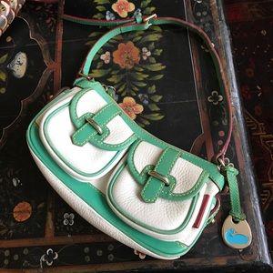 Handbags - Dooney & Bourke white and green purse